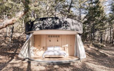 LUMIPOD, une architecture ronde offrant une vue à 180° sur la nature