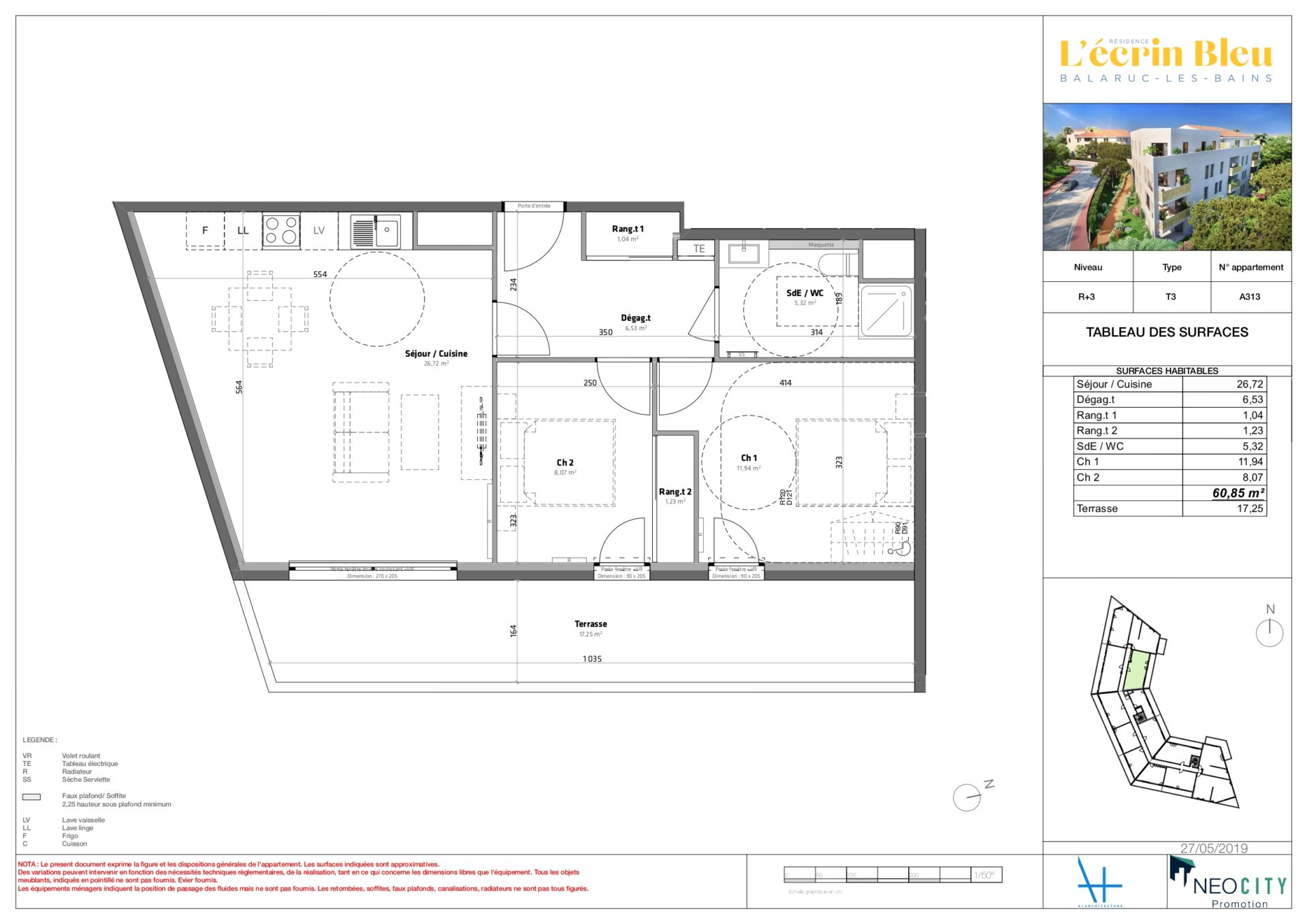 Plan de vente - immobilier neuf