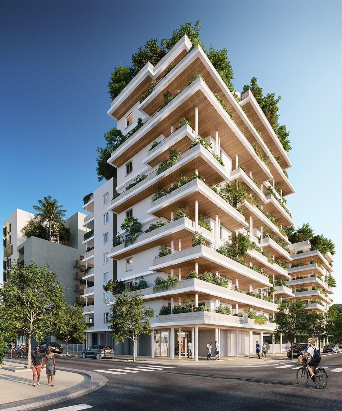 Odyssée Rive Gauche L'apogée Montpellier Port Marianne immobilier neuf terrasse